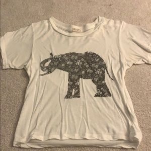 fitted white elephant shirt